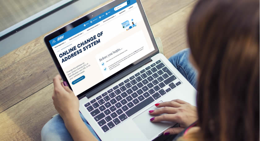 California DMV Online Address Change